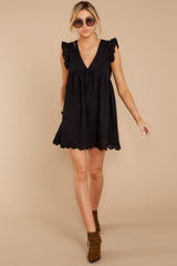 1 Keep A Secret Black Romper at reddressboutique.com
