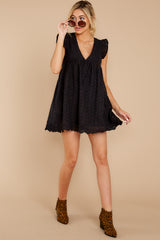 2 Keep A Secret Black Romper at reddressboutique.com