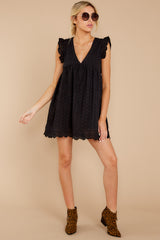 3 Keep A Secret Black Romper at reddressboutique.com