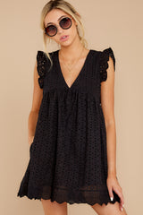 4 Keep A Secret Black Romper at reddressboutique.com