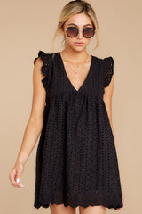 5 Keep A Secret Black Romper at reddressboutique.com