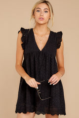6 Keep A Secret Black Romper at reddressboutique.com