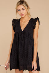 7 Keep A Secret Black Romper at reddressboutique.com