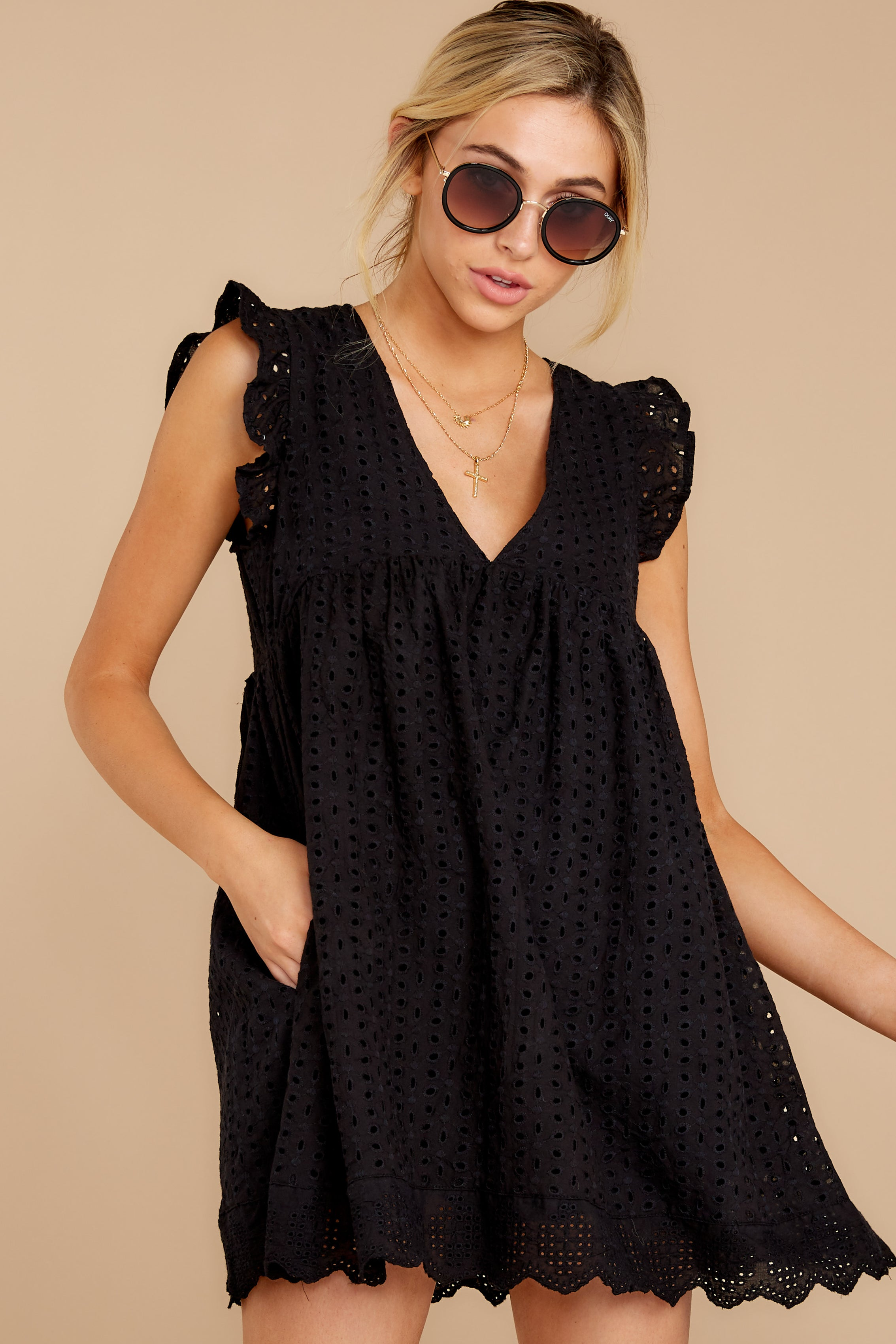 8 Keep A Secret Black Romper at reddressboutique.com