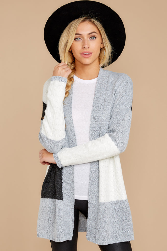 1 CozyChic Lite® Pewter Long Weekend Cardi at reddressboutique.com