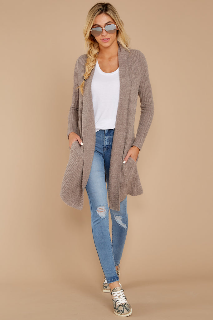 1 Carefree Days Heather Grey Cardigan at reddressboutique.com