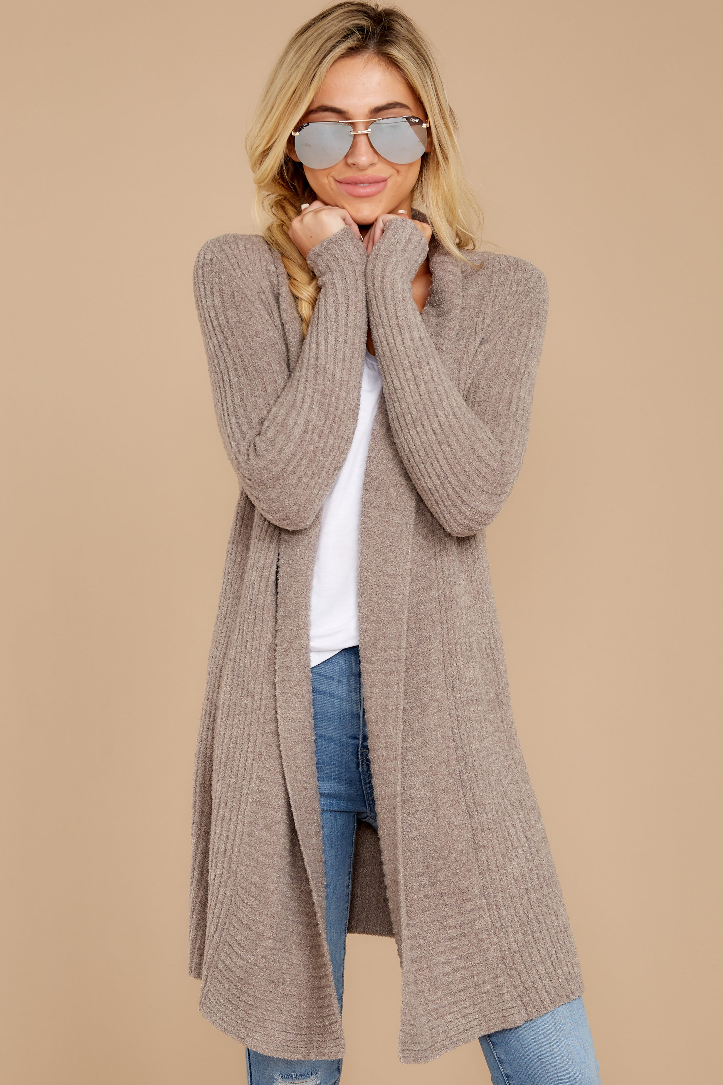 The Cozychic Lite® Driftwood Taupe Montecito Cardi