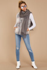 3 Garvey Grey Plaid Vest at reddressboutique.com