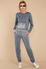 2 The Storm Grey Faded Wash Pullover Hoodie at reddressboutique.com