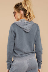 7 The Storm Grey Faded Wash Pullover Hoodie at reddressboutique.com