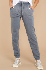 3 The Storm Grey Faded Wash Joggers at reddressboutique.com