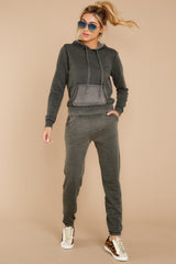 6 The Rosin Faded Wash Jogger at reddressboutique.com