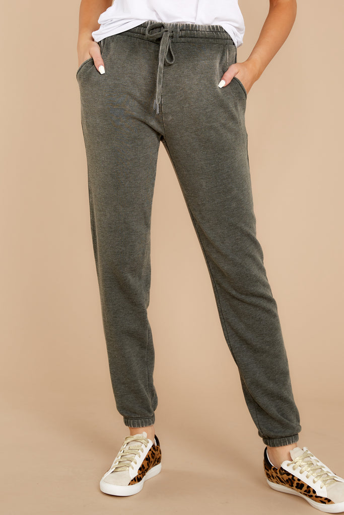 1 On The Fly Navy Blue Print Joggers at Reddressboutique.com