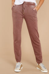 1 The Friar Brown Faded Wash Jogger at reddressboutique.com