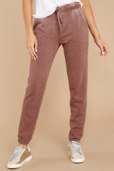 2 The Friar Brown Faded Wash Jogger at reddressboutique.com