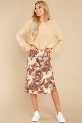 6 On The Mark Multi Print Midi Skirt at reddress.com