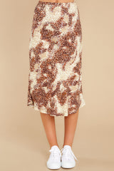 2 On The Mark Multi Print Midi Skirt at reddress.com