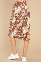 3 On The Mark Multi Print Midi Skirt at reddress.com