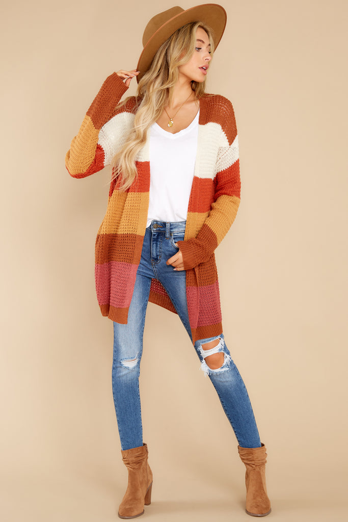 1 Denali Sunset Navy Multi Knit Cardigan at reddress.com