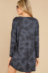 7 Grove Black Thermal Dress at reddress.com