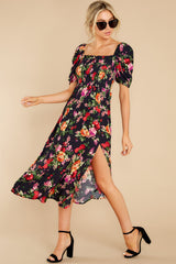 1 Always You Black And Red Floral Print Maxi Dress at reddress.com