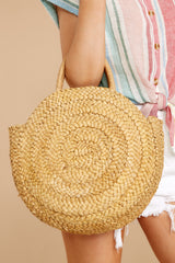 7 All Around It Tan Round Bag at reddressboutique.com