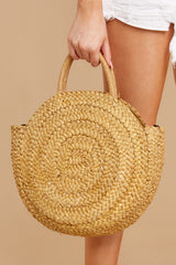 8 All Around It Tan Round Bag at reddressboutique.com