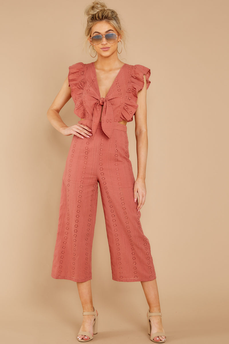 1 Have It Here Shell Pink Midi Jumpsuit at reddressboutique.com