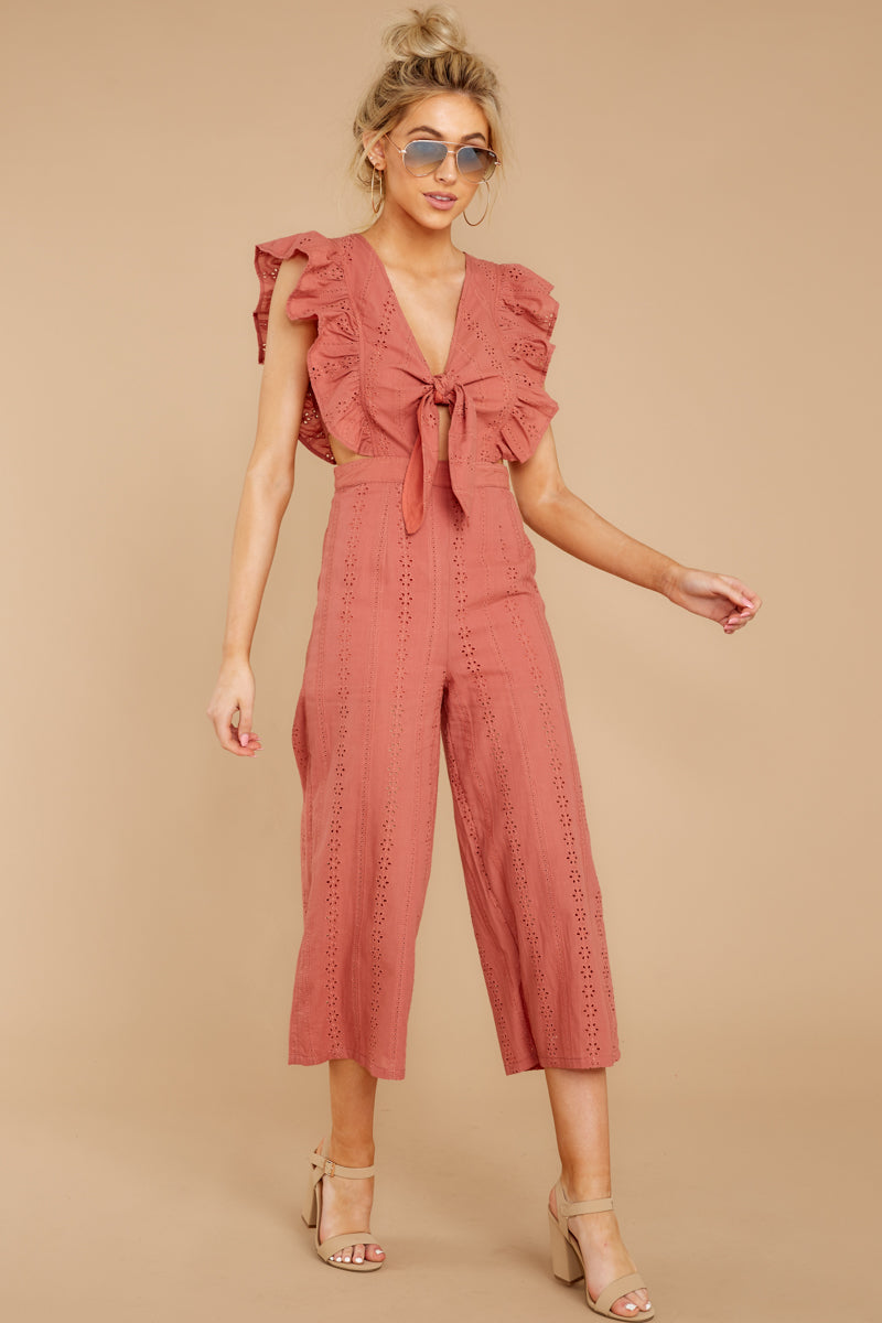 2 Have It Here Shell Pink Midi Jumpsuit at reddressboutique.com