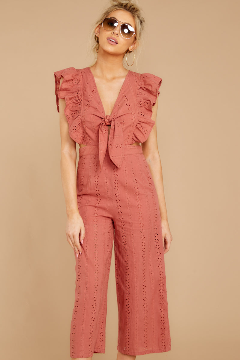 5 Have It Here Shell Pink Midi Jumpsuit at reddressboutique.com