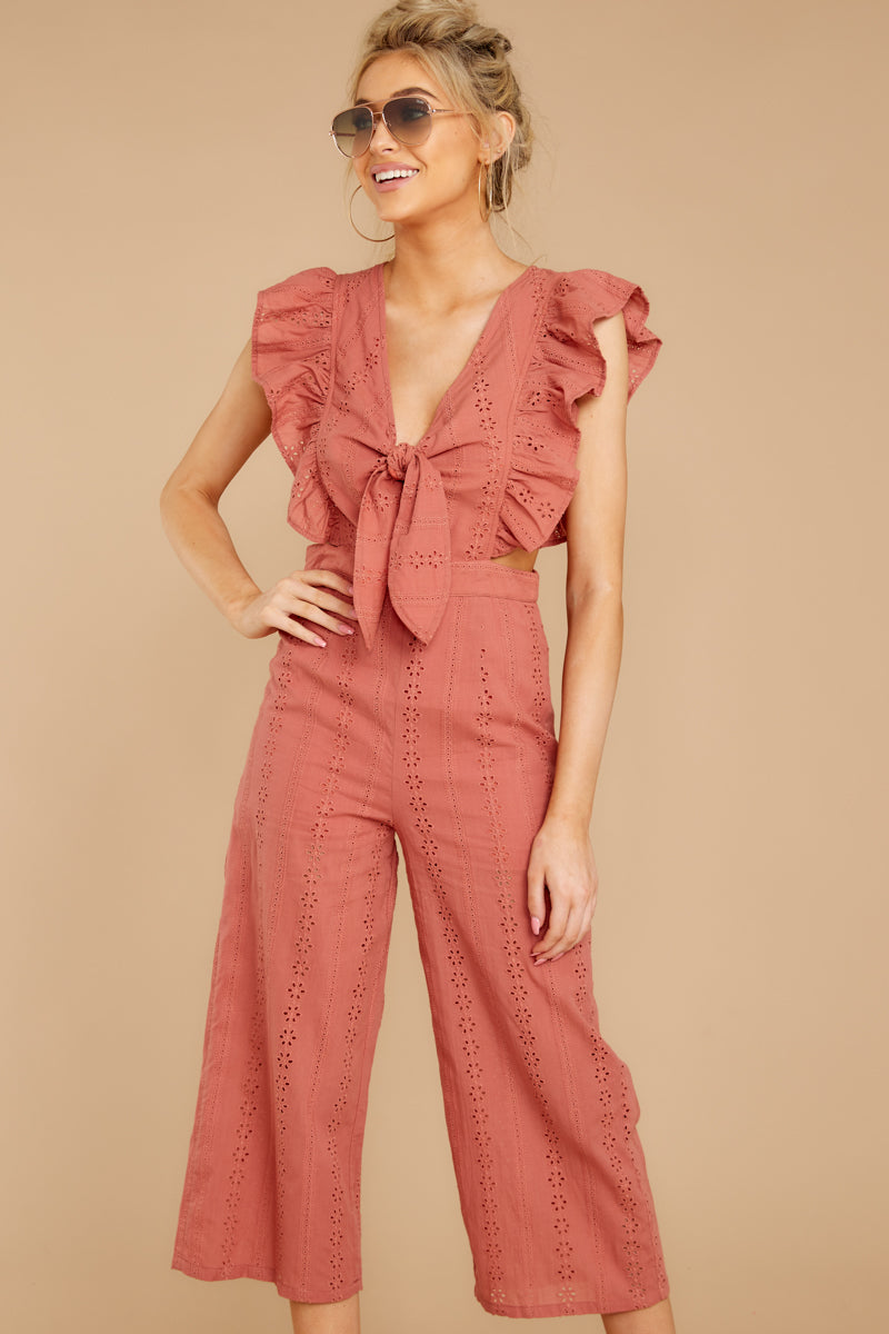 6 Have It Here Shell Pink Midi Jumpsuit at reddressboutique.com