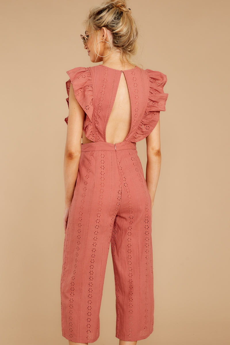7 Have It Here Shell Pink Midi Jumpsuit at reddressboutique.com