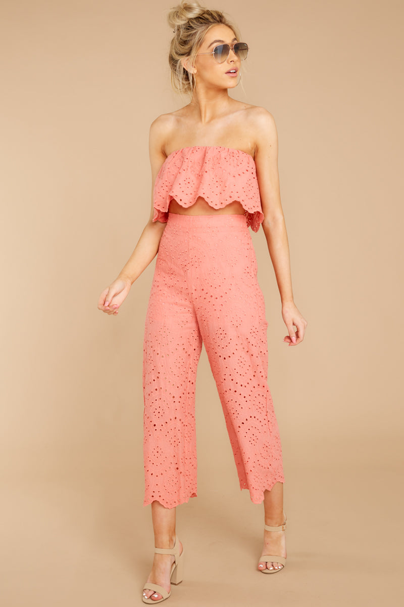 See Your Vision Baroque Rose Eyelet Two Piece Set