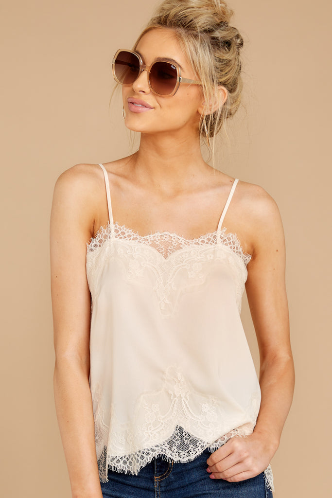 1 Lover Lane Blush Pink Eyelet Tank Top at reddress.com