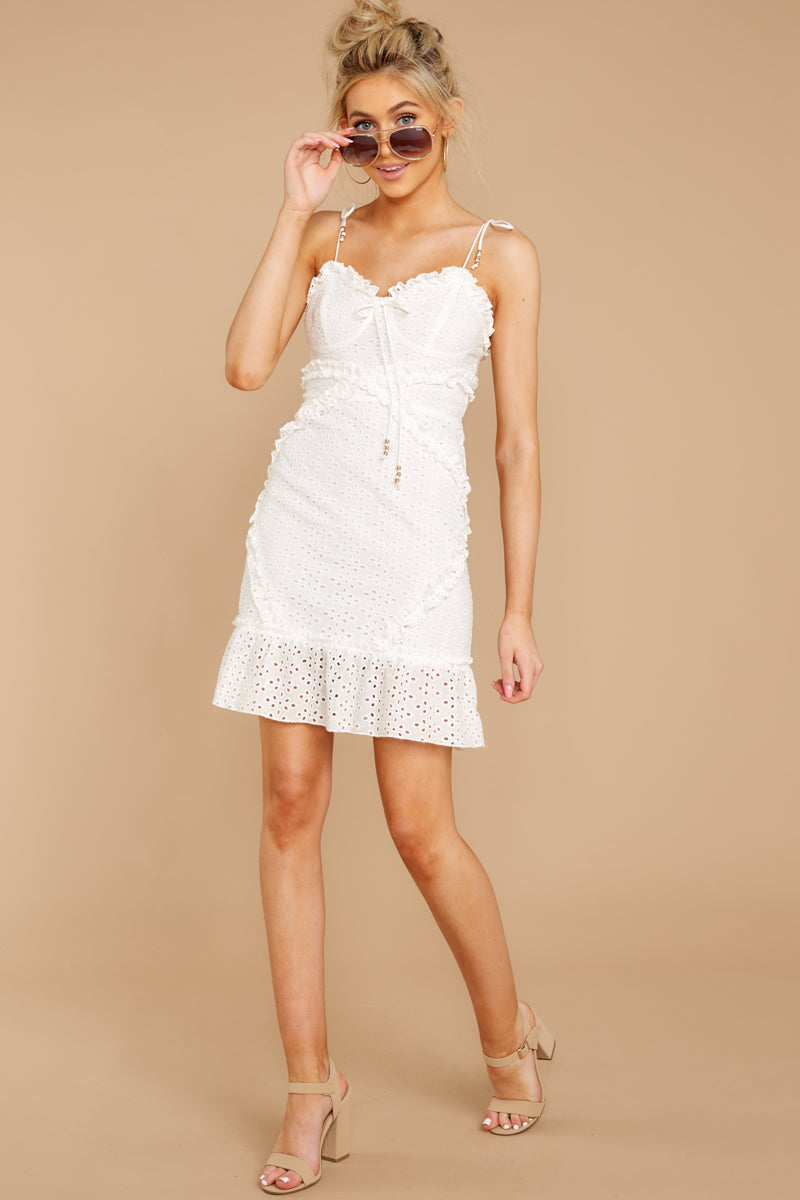 1 Bursting With Joy White Eyelet Dress at reddressboutique.com