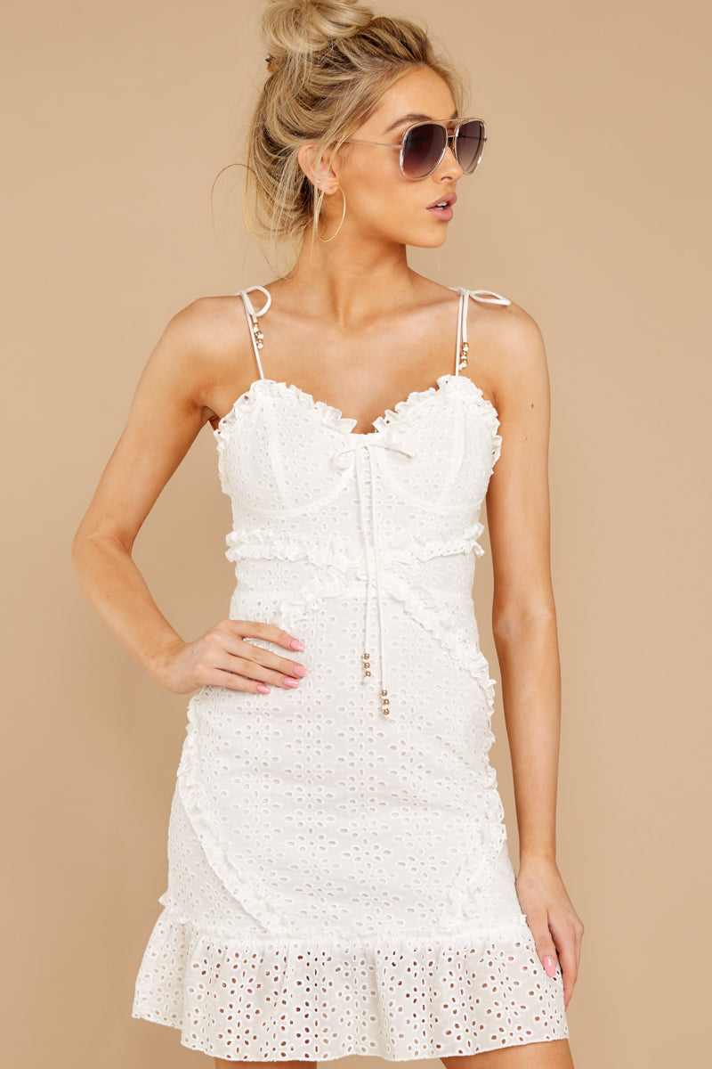 2 Bursting With Joy White Eyelet Dress at reddressboutique.com