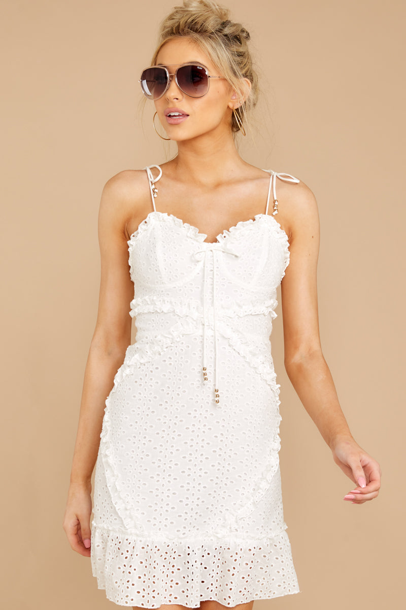 5 Bursting With Joy White Eyelet Dress at reddressboutique.com