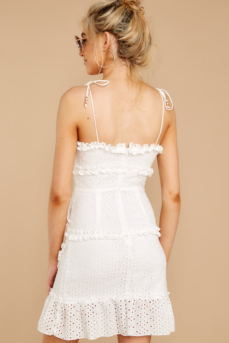 6 Bursting With Joy White Eyelet Dress at reddressboutique.com
