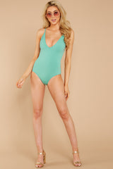 1 Kissed By Sunshine Spearmint One Piece at reddressboutique.com