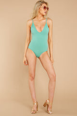 3 Kissed By Sunshine Spearmint One Piece at reddressboutique.com
