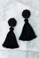 2 Give Me It All Black Statement Earrings at reddressboutique.com
