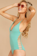4 Kissed By Sunshine Spearmint One Piece at reddressboutique.com