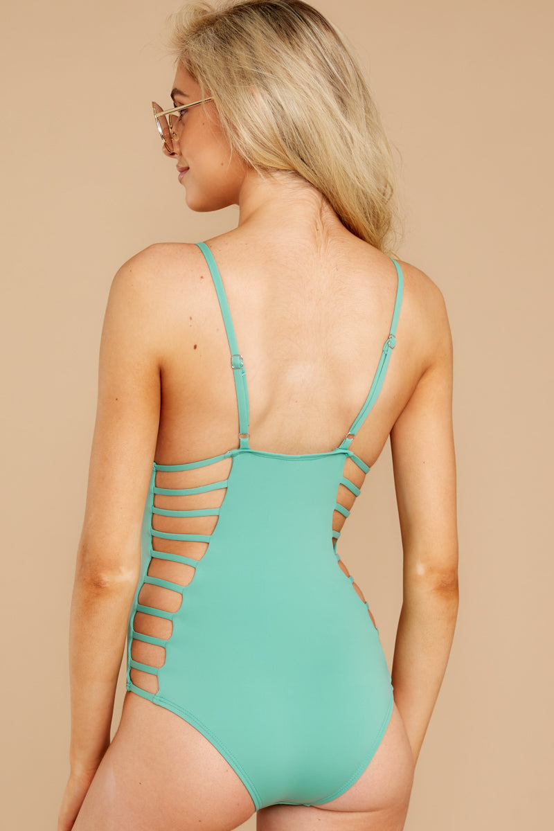 7 Kissed By Sunshine Spearmint One Piece at reddress.com