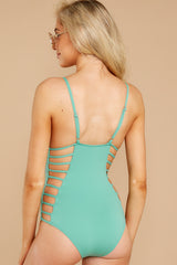 7 Kissed By Sunshine Spearmint One Piece at reddressboutique.com