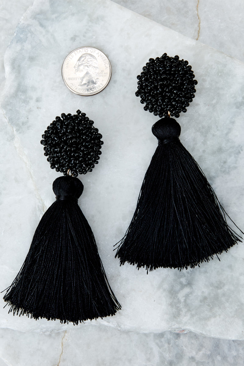 3 Give Me It All Black Statement Earrings at reddressboutique.com