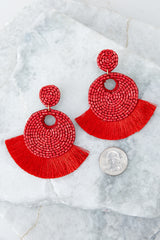 4 Better Than Fiction Red Earrings at reddressboutique.com