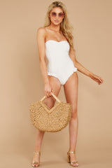 2 My Next Escapade White Eyelet One Piece at reddressboutique.com