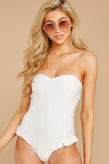 5 My Next Escapade White Eyelet One Piece at reddressboutique.com