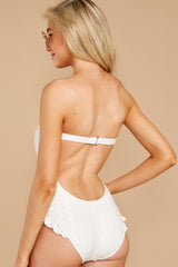 6 My Next Escapade White Eyelet One Piece at reddressboutique.com