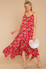 1 Take A Picture Red Palm Print Maxi Dress at reddressboutique.com